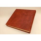 אלבום תמונות 34X34 בכריכת עור מיוחדת-גימור ענתיק