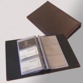 ספר לכרטיסי ביקור בכריכת עור קשיחה - מלכיאור